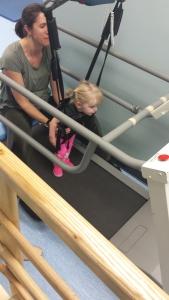 Treadmill walking!