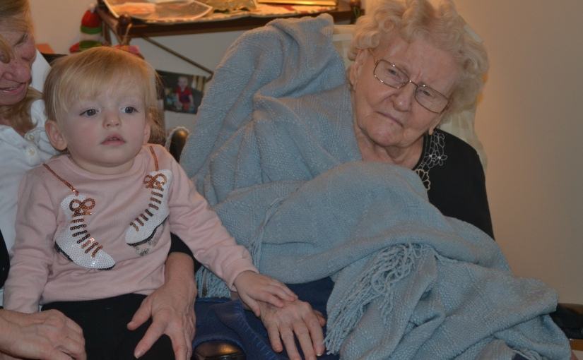 Day 310: Christmas Visit With Great Grandma Gregoire